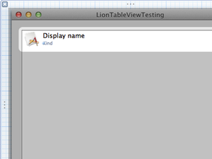 Xcode finished table cell view thumb