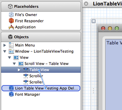 Xcode setup table view datasource and delegate step1 thumb