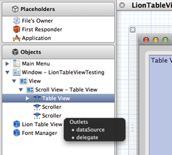Xcode setup table view datasource and delegate step2 thumb