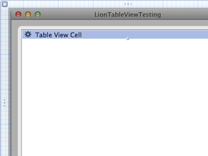 Xcode table view with default image text cell thumb